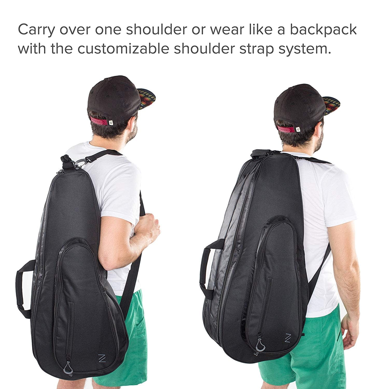 Carrying a tennis racket bag - Backpack or Shoulder Strap