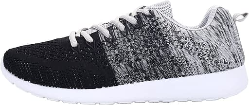 WELMEE Men's Knit Breathable Casual Sneakers